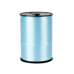 Bolduc satiné Bleu Ciel 10 mm / 250 Mètres