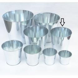 Cache Pot en Zinc basique Dia17.5 H17.5 cm