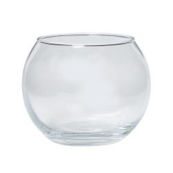 Vase boule Dia 11 H 8.5cm - verre fin