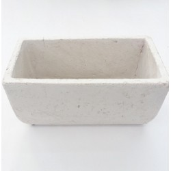 Pot Rectangle Beton Blanc 28x14.5xh13 cm