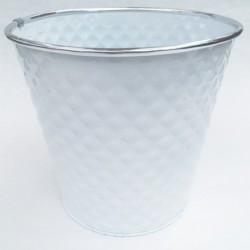 Cache Pot Zinc Blanc Dia20 H19 cm