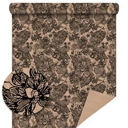 Kraft Motif Tapestry Noir 70 cm / 50Mètres