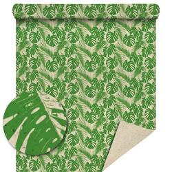 Papier recyclé motifs monstera 70cm / 50 Mètres